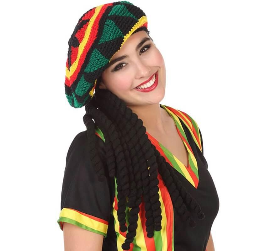 716727192e739 Gorro Jamaicano con Rastas