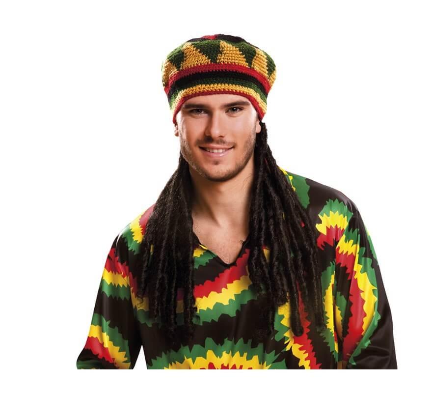 87977874498f3 Gorro Jamaicano con rastas