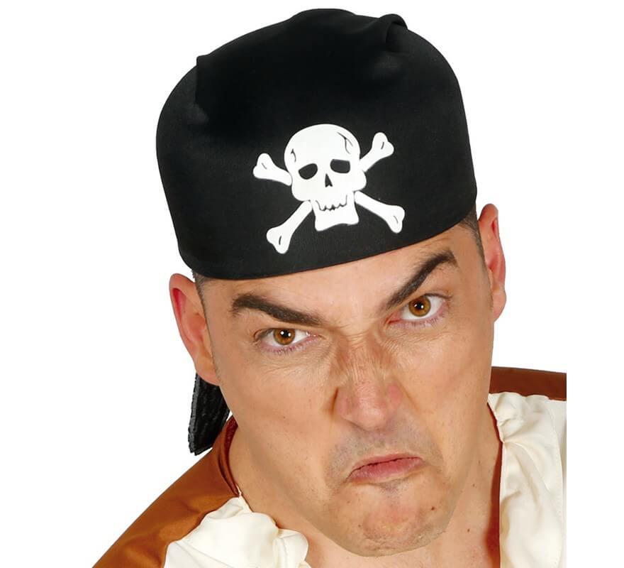 Gorro o Bandana de Pirata negro de tela 6db261d7a4e