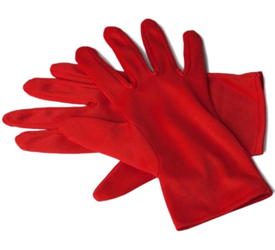 High Top Textil Guantes, Color Rojo, Talla 37