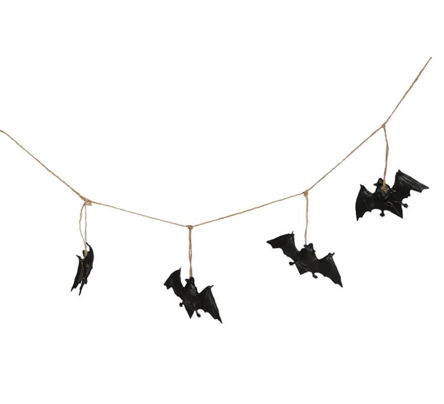 Guirnalda de 8 murciélagos de 180 cm para decoración