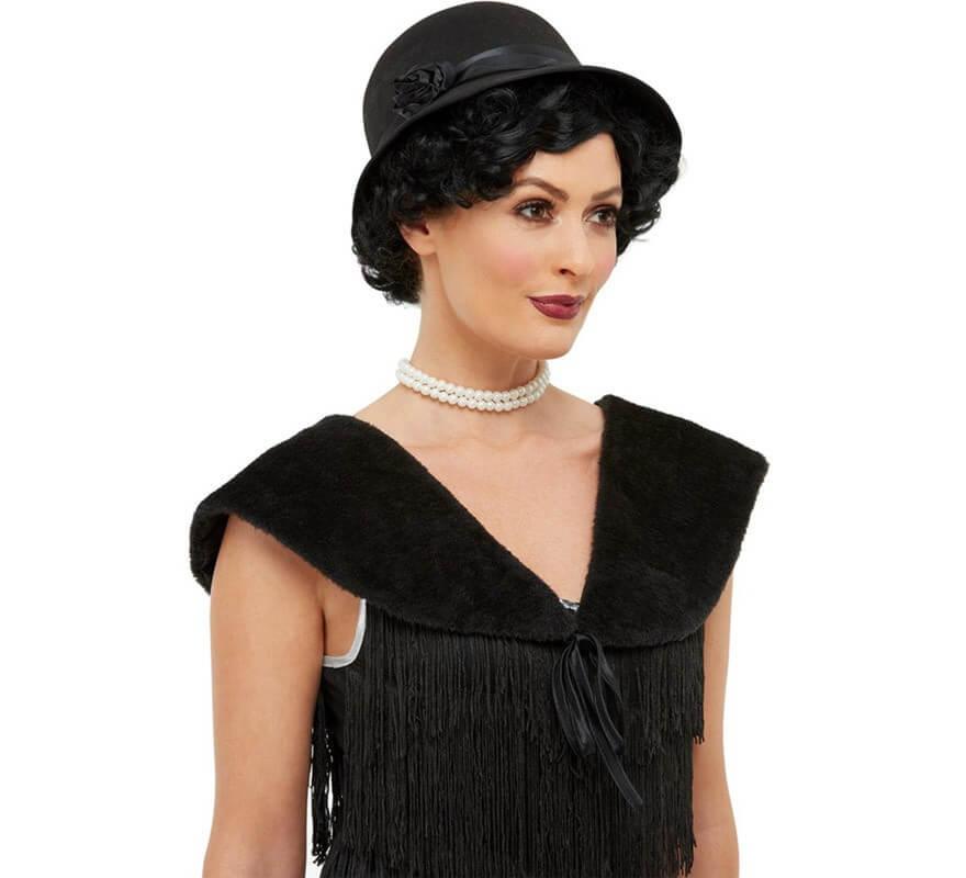 material seleccionado Reino Unido comprar Kit de Años 20 Negro: Sombrero y Estola