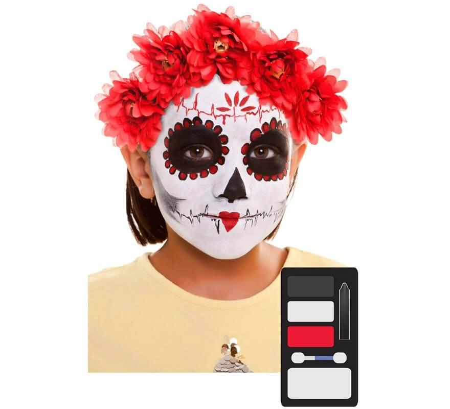 Kit De Maquillaje De Catrina Día De Los Muertos