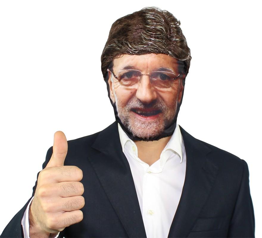 Kit de Peluca y Máscara Presidente Mariano Rajoy