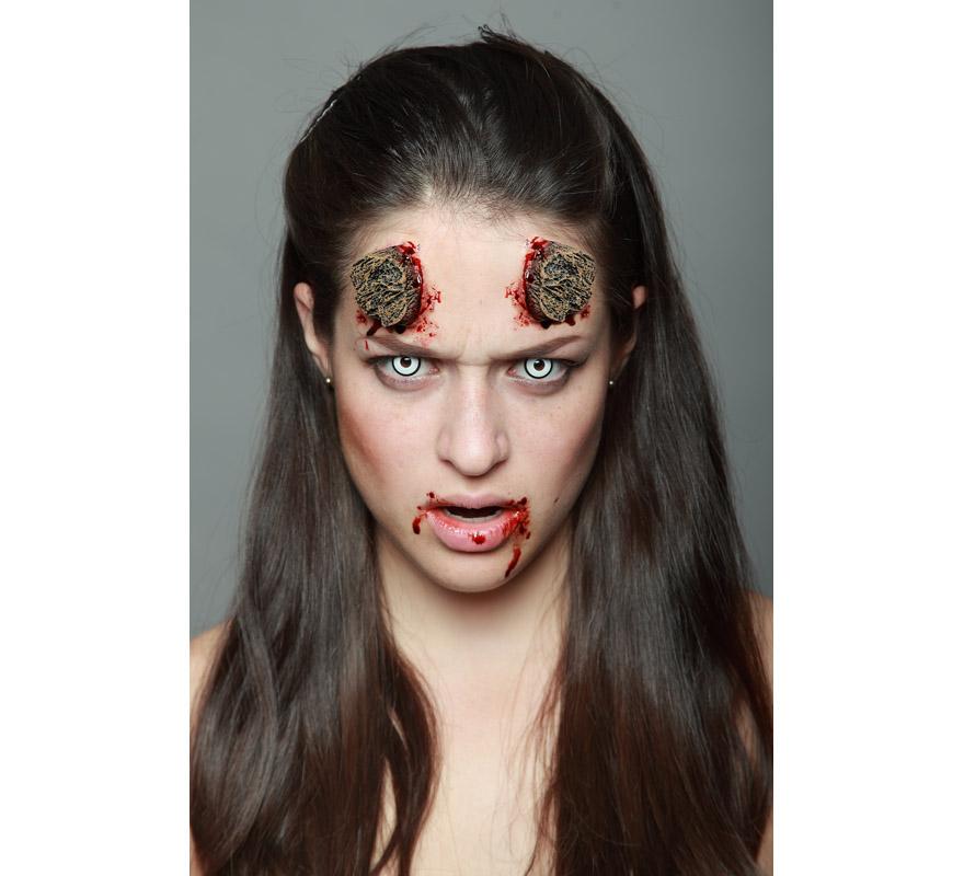 maquillaje cuernos serrados fx ltex para halloween - Maquillaje Demonio