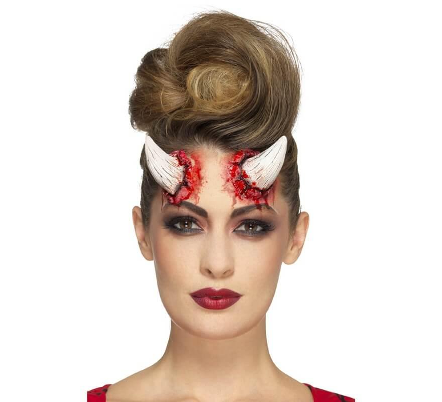 maquillaje fxs de cuernos de diablesa marfil