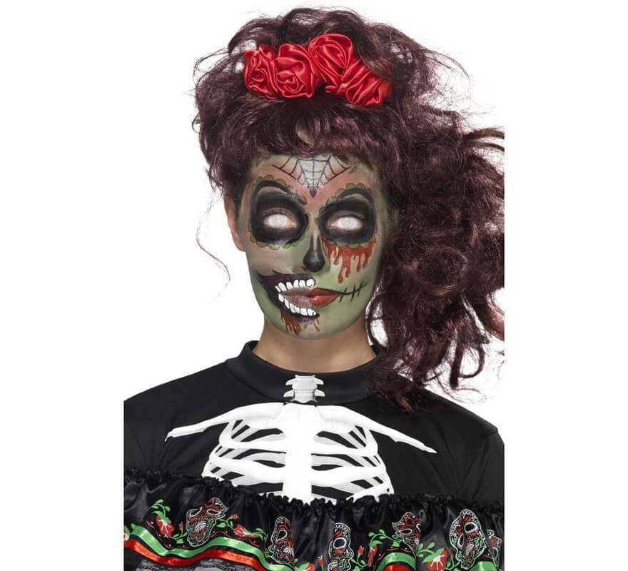 Maquillaje fxs para zombis del d a de muertos - Maquillage dia de los muertos ...