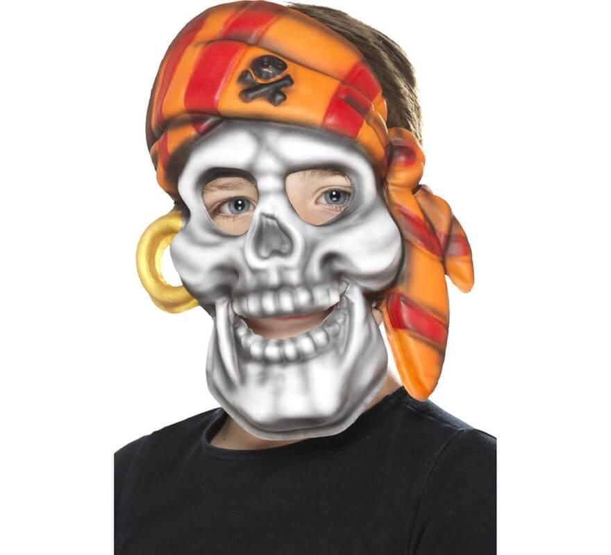 Máscara De Calavera Pirata Para Niños