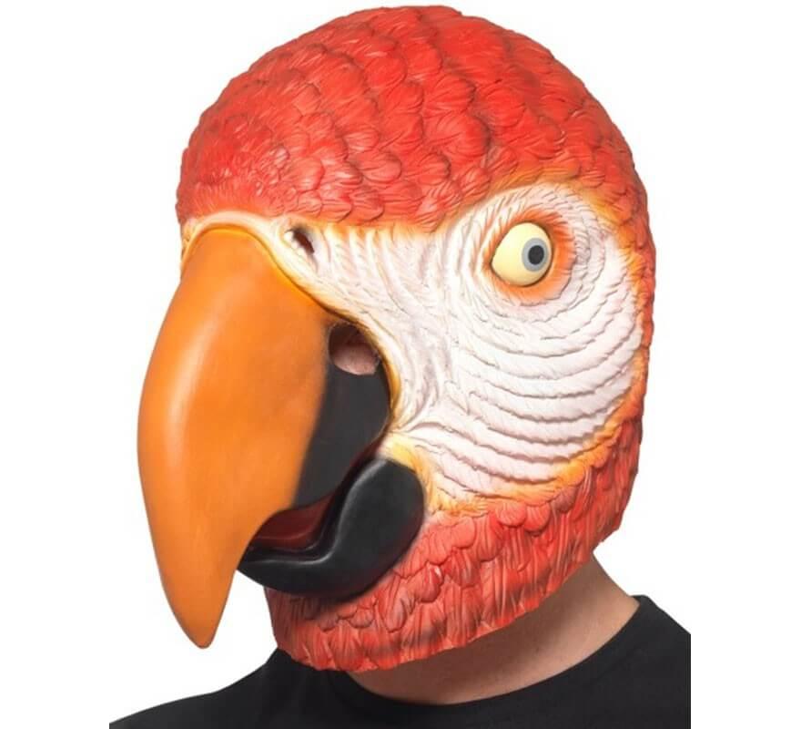 Máscara de Loro Rojo para adultos