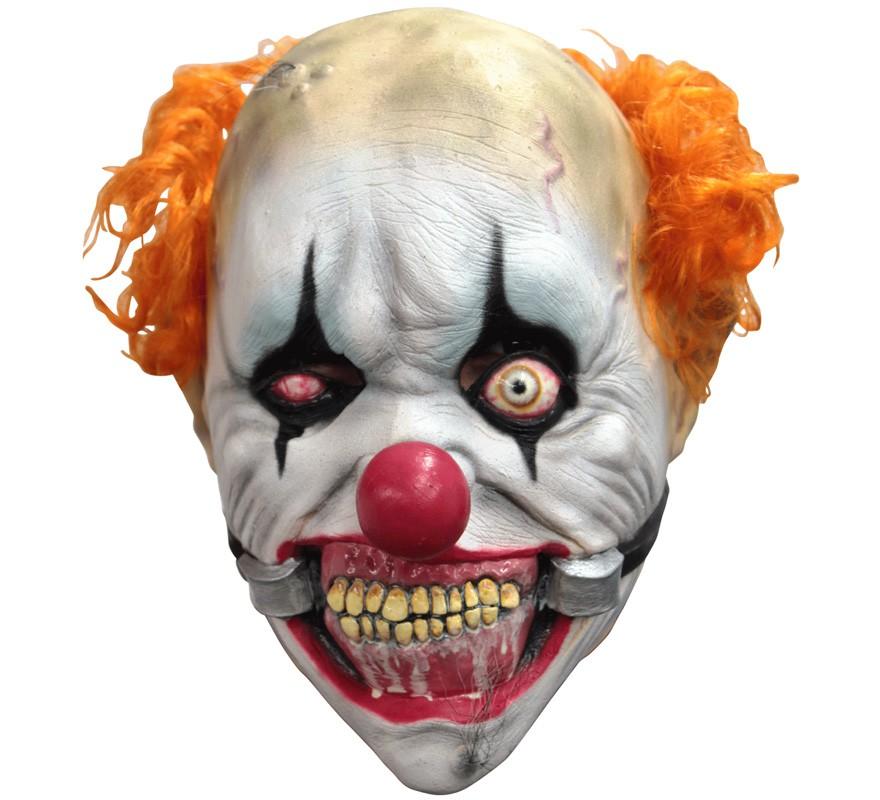 Máscara de Payaso Diabólico Smiley para niños