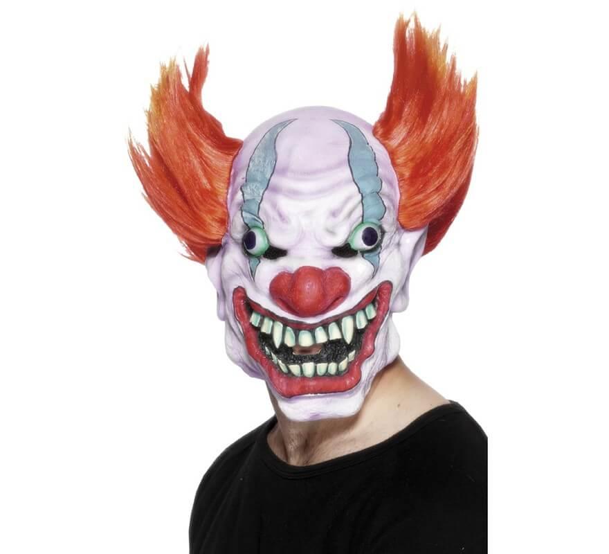 Máscara de Payaso Terrorífico con pelo fb59678049ba