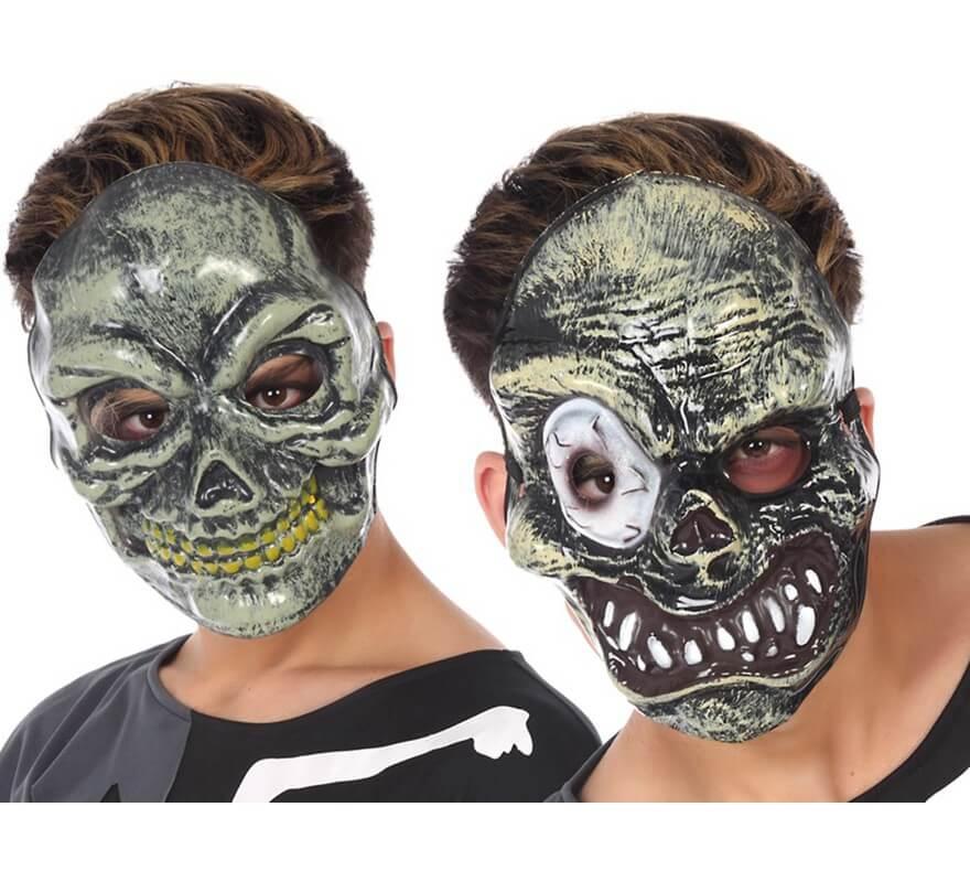 Mascara Para Halloween En 2 Modelos Surtidos