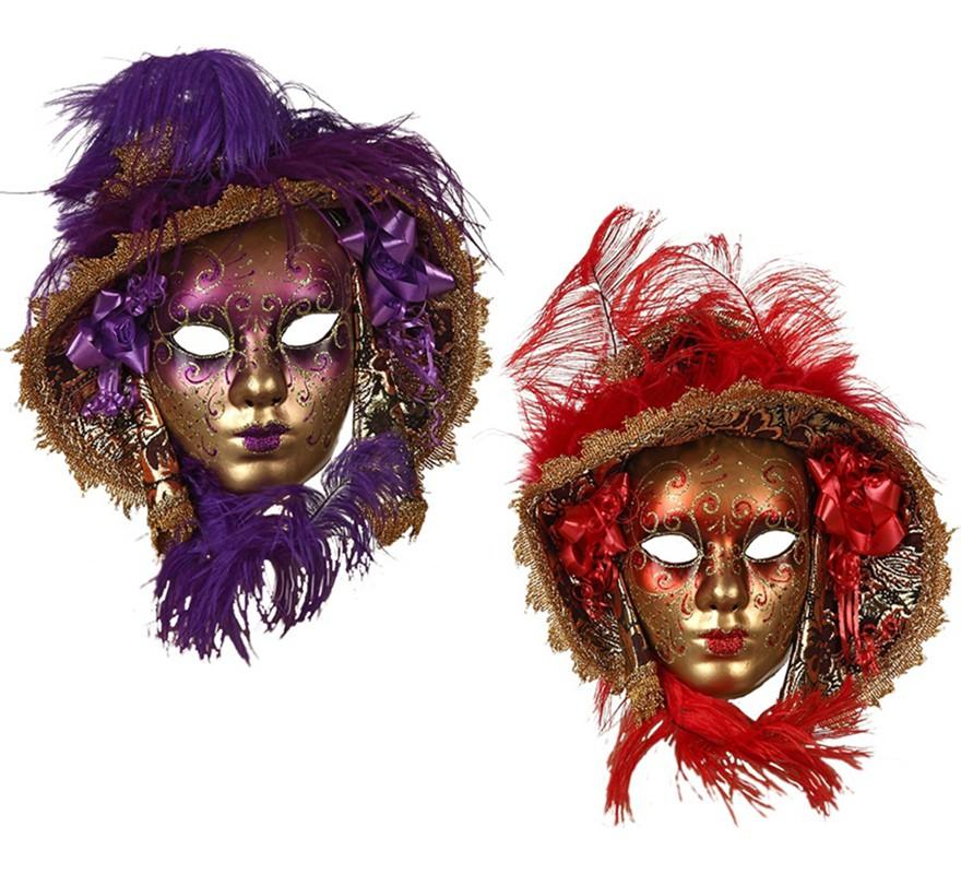 4a1187d40414c Máscara Veneciana con Sombrero en 2 colores