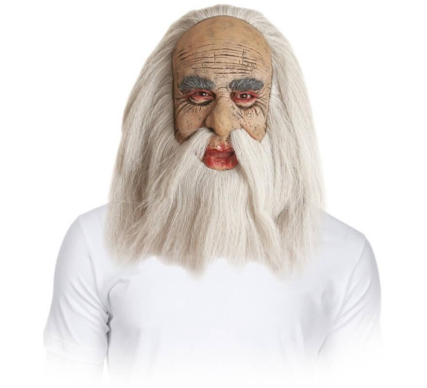 Máscara Viejo con pelo, barba y bigote