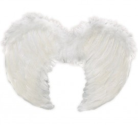 Alas de Ángel plumas blancas de 40x36 cm.