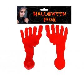 Blister de 2 Pies Sangrientos de gelatina para Halloween
