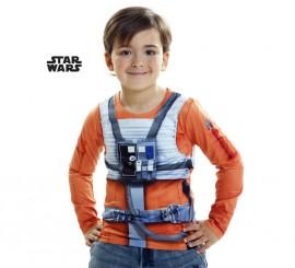 Camiseta disfraz Luke Skywalker de Star Wars para niño