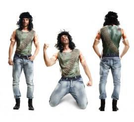 Camiseta disfraz soldado para hombre