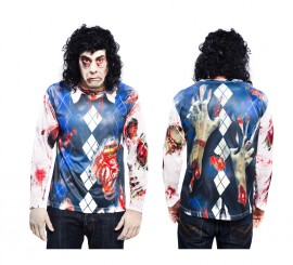 Camiseta disfraz Zombie para hombre para Halloween