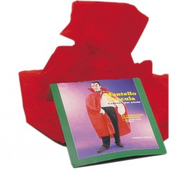 Capa de tela roja. 1,25 m. para Halloween