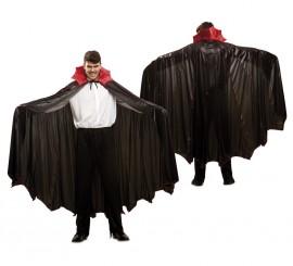 Capa negra con cuello de Vampiro Murciélago Deluxe para adultos