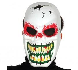 Careta de Esqueleto Malvado blanca