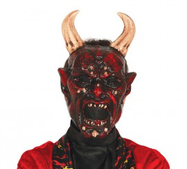 Careta del Diablo Belcebú con cuernos