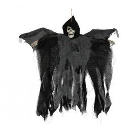 Colgante de esqueleto con luz y alas en movimiento de 50 cm