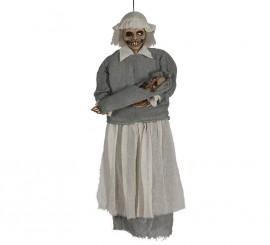 Colgante de mamá Zombie con bebé de 90 cm