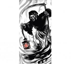 Decoración para puerta de La Muerte con luz de 152x76 cm
