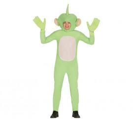 Disfraz de Alienígena Dipsy verde para hombre