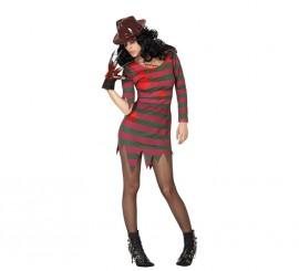 Disfraz de Asesina Freddy a rayas