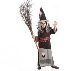 Disfraz de Bruja con parches para niñas