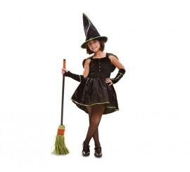 Disfraz de Bruja verde para niñas para Halloween