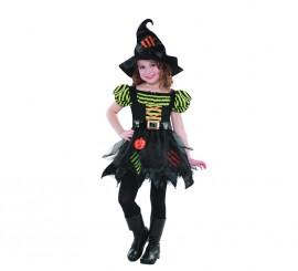 Disfraz de Brujita parches para niñas para Halloween