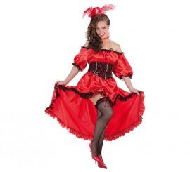 Disfraz de Burlesque Can Can rojo para mujer