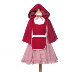 Disfraz de Caperucita con capucha para niña