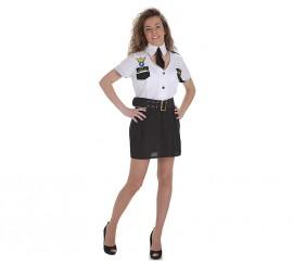 Disfraz de Capitana de Avión de pasajeros para mujer