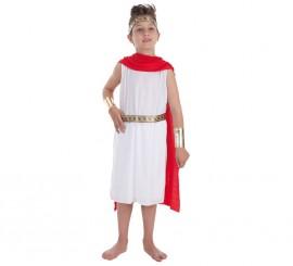Disfraz de César romano Luxus para niño