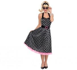Disfraz de chica Twist de los años 50-60 para mujer