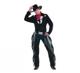 Disfraz de Cowboy o vaquero de rodeo para hombres en talla estándar M-L