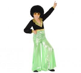 Disfraz de Disco Man verde para niño