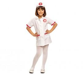 Disfraz de Enfermera con cruz roja para niña