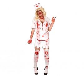 Disfraz de Enfermera hombre Zombie