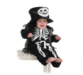 Disfraz de Esqueleto con chistera para bebé