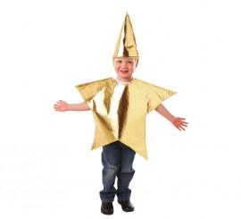 Disfraz de Estrella para niños de 3 a 5 años para Navidad