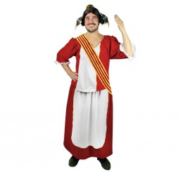 Disfraz de Fallera roja para hombre