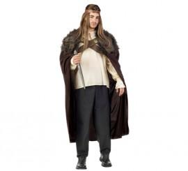 Disfraz de Guerrero medieval de los 7 reinos marrón para hombre