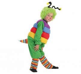 Disfraz de Gusanito con peluca para niño