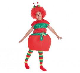 Disfraz de Gusano en Manzana para niño